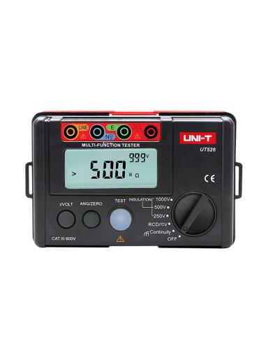 Medidor comprobador Instalaciones Eléctricas UT526 - vista frontal
