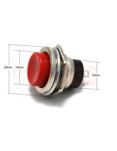 Pulsador Metálico Rojo 16mm Rojo SW-733RD