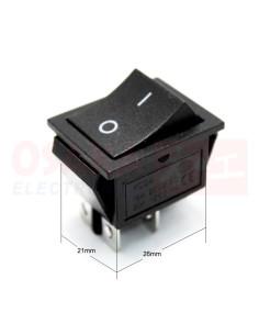 Switch Interruptor Balancín negro 4 pines 2 posiciones - vista principal