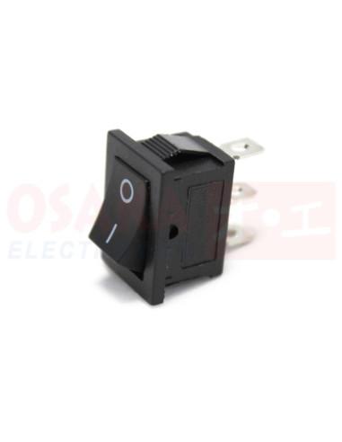 Switch Interruptor Balancín negro 2 posiciones 3 pines - vista principal