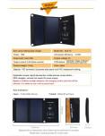 Panel Solar Plegable 15W - Ficha Tecnica