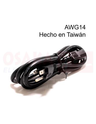 Cable Poder AWG14 1.8mtr Taiwán - vista principal