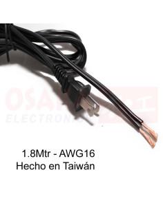 Cable Poder  Duplex Ensamble AWG16 1.8mtr Taiwán - vista principal