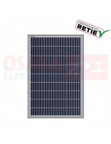 Panel Solar Policristalino 100W SF-6P100 - vista principal