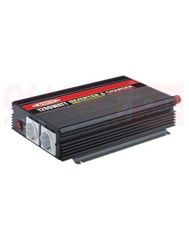 Inversor de voltaje con cargador 12V 1200W Paco - vista principal