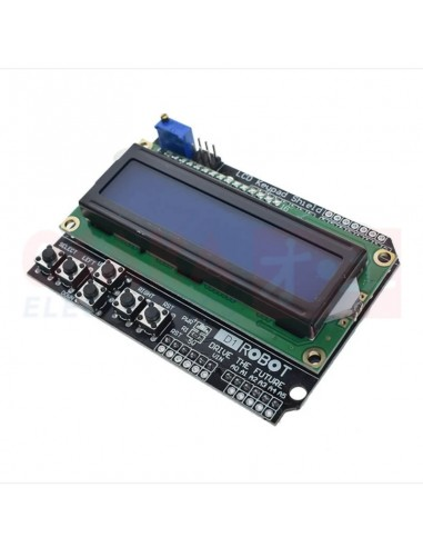 Display LCD Shield alfanumérico 16x2 Backlight Azul - vista principal