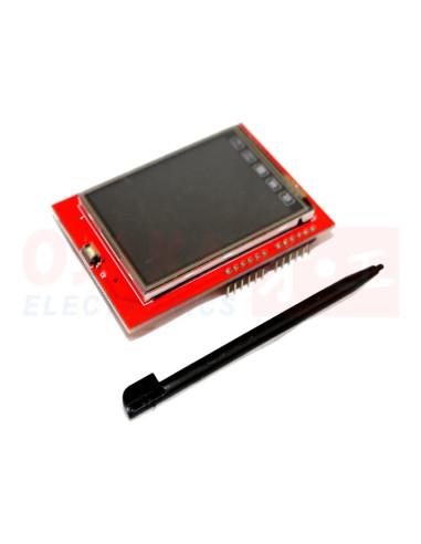 "Pantalla Display Táctil 2.4"" TFT Arduino UNO - vista principal"