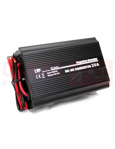 Convertidor DC reductor 24V a 12V 20A - vista principal