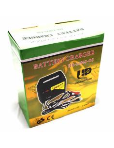 Imagen de empaque del Cargador para batería de carro y moto 4A