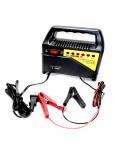 Imagen Cargador para batería de carro y moto 4A con cables