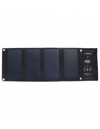 Panel Solar Plegable 28W Carga Rápida - Vista Frontal